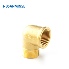 NBSANMINSE 10pcs/lot SM1006 FME 1/4Thick 3/4 Female And Male Elbow Brass Fitting For Water Heating