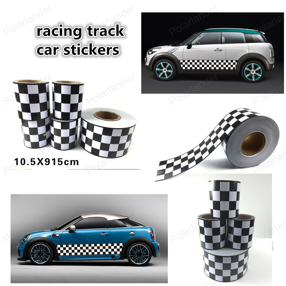 Detail feedback questions about outline checkered flag sticker vintage sports car racing cars change color film race track car stickers on aliexpress com