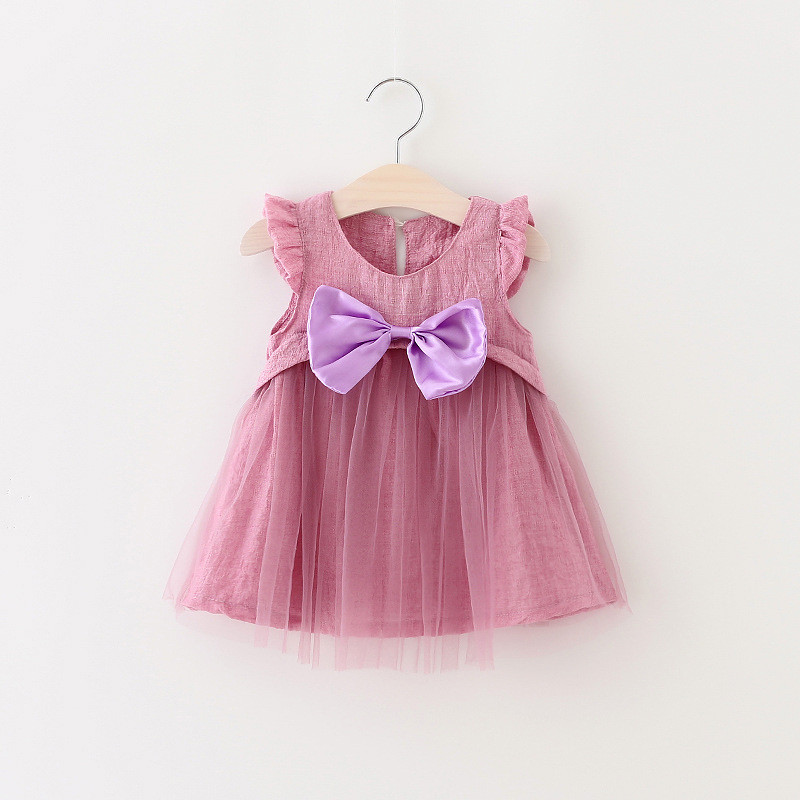 Summer Dresses Fashion Girls Baby Dress Princess Party Cute Big Bow Kids Girls Dress Tutu Kids Clothes