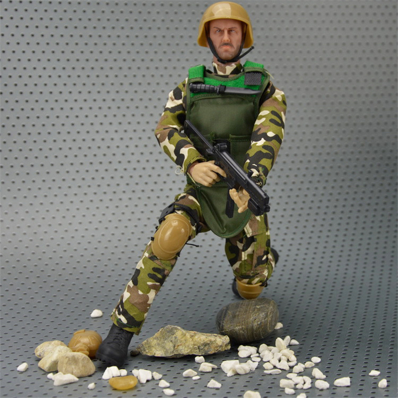 Toys & Hobbies Fashion Style 9cm Plastic Soldier Men Mobility Soldier Toys Military Sandbox Model Playset Special Force Action Figures Kids Toys Randomly