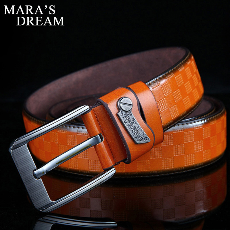 Mens Business Casual High Luxury Pure Leather Buckle Belts