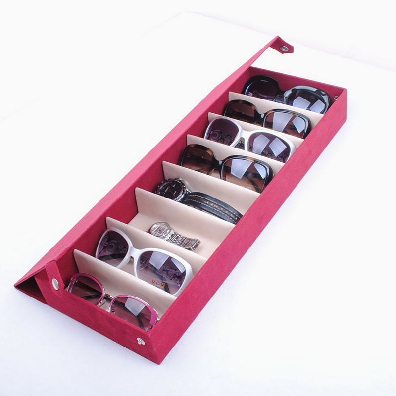 Perfect Free Shipping 8 Deerskin Fleece Glasses Display Box Glasses Storage Box  Storage Box Sunglasses Family Pack In Accessories From Menu0027s Clothing U0026  Accessories ...
