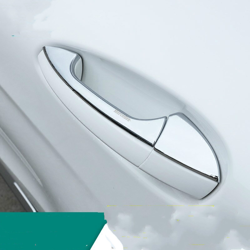 FUNDUOO For Mercedes Benz C350 2008 2014 Stainless Steel Car Door Handle Cover Trim Overlays Stickers in Chromium Styling from Automobiles Motorcycles