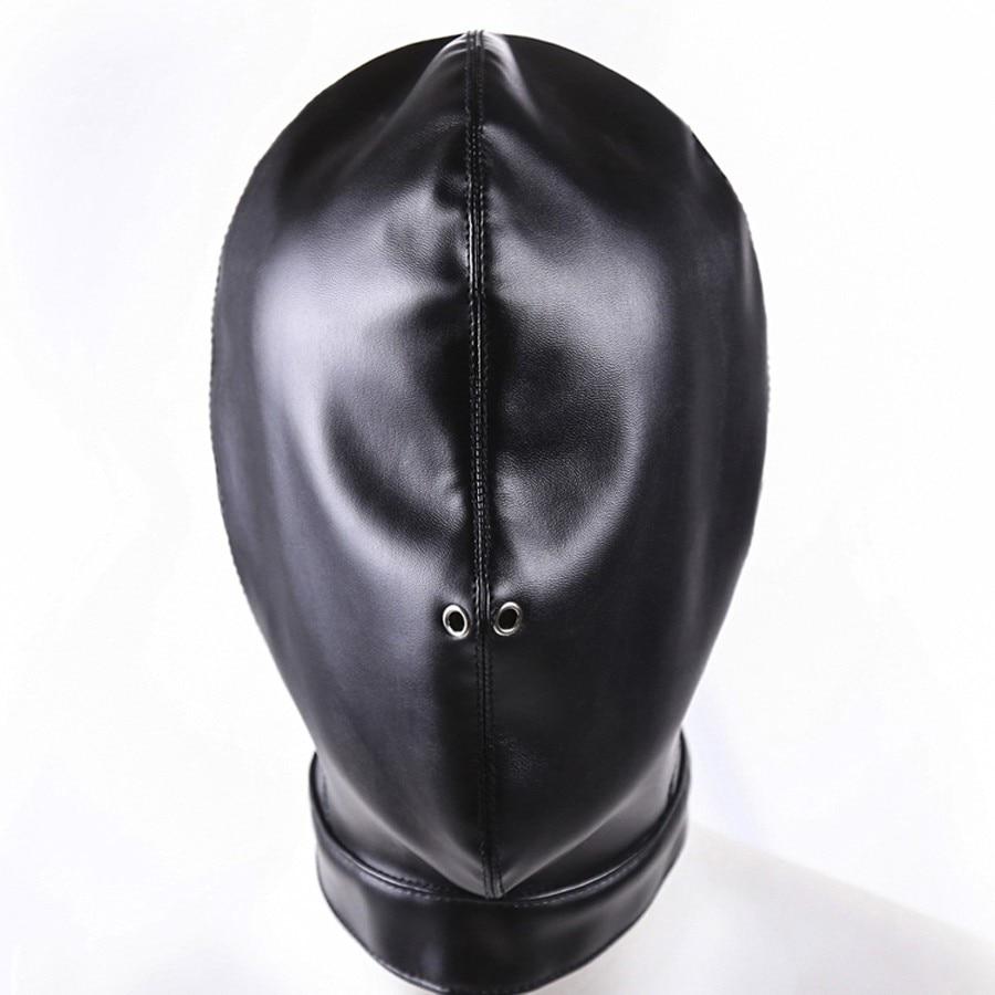Breath Play Mask,Bdsm Bondage Restraints Leather Hood Mask -6180