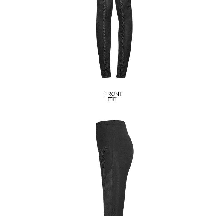 Панк рейв моды женская сексуальная Готическая роза Jacouards перспектива летние леггинсы K210