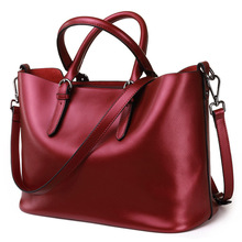New American LUXURY Style Genuine Leather Women Shoulder Bag Brand Designer Cowhide Handbags Skin Crossbody