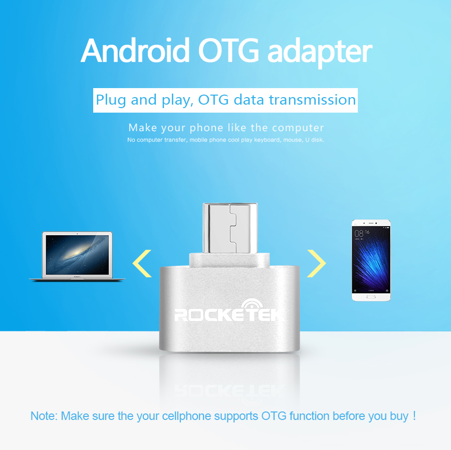 Details about Rocketek Micro USB Male to USB 2 0 Female OTG Adapter For  Android Mobile Phone