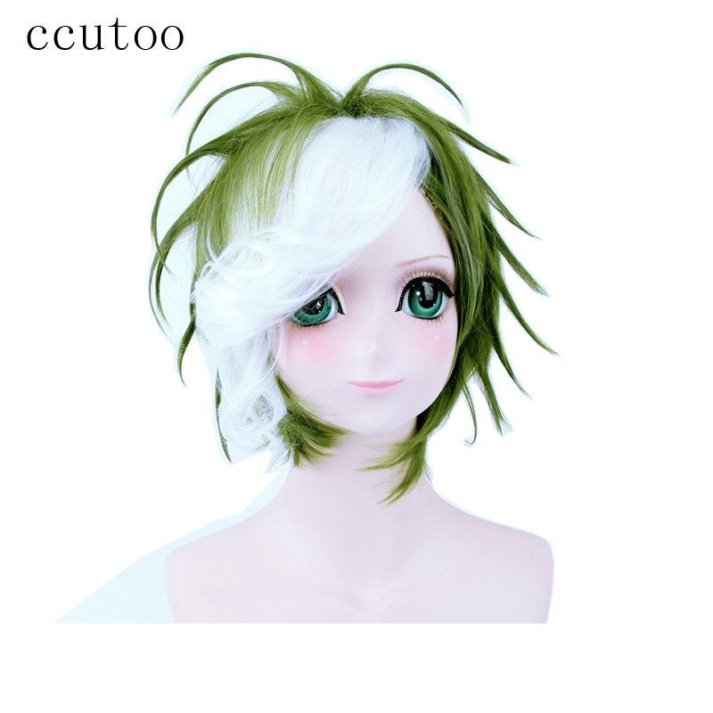 Hair Extensions & Wigs Hearty Ccutoo 12 Short Green Styled Synthetic Hair One Piece Roronoa Zoro Cosplay Wig
