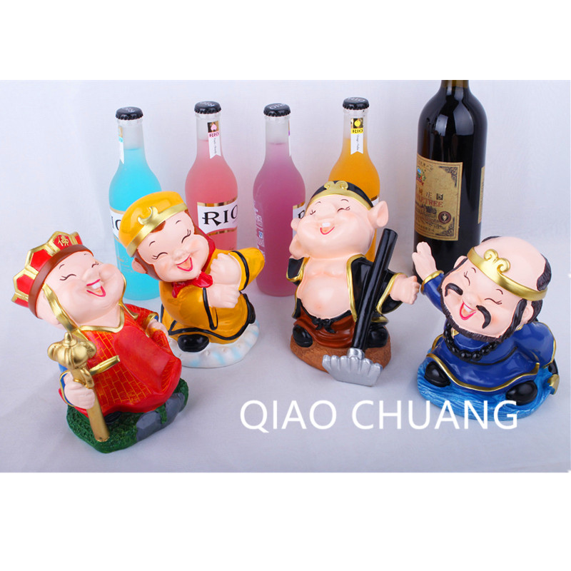 Modern Simple Journey To The West Tang's Monk The Monkey King Pig Eight Quit Sha Wujing Wine Rack Ornaments Resin Crafts S442 1 6 figure doll journey to the west monks the monkey king 2 tang monk 12 action figure doll collectible figure toy model