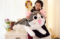 cartoon round eyes cat large 80cm plush toy soft throw pillow toy Christmas gift h594