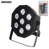 2pcs Lot Wireless Remote Control Super Bright LED Par RGB SlimPar Tri 7 LED Stage Wash