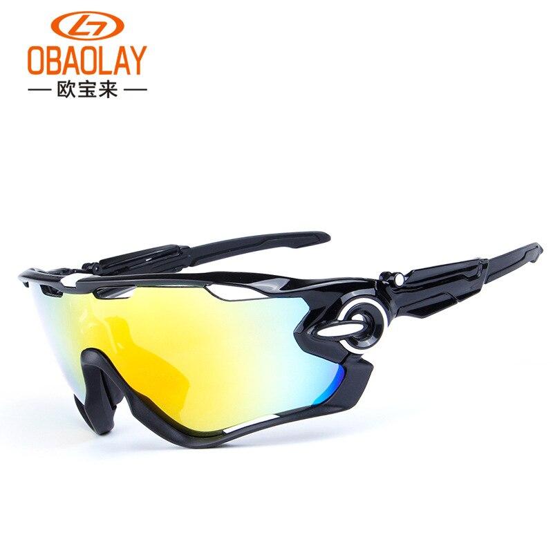 Prix pour Obaolay o09270 polarisées vtt lunettes de vélo ciclismo cyclisme lunettes mans montagne vélo sport lunettes lunettes de soleil avec 3 lentille