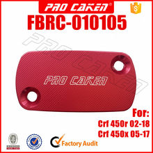 CNC front brake reservoir master cylinder cap cover for honda CRF 450r 450x crf450r crf450x motorcross dirt pit bike part(China)