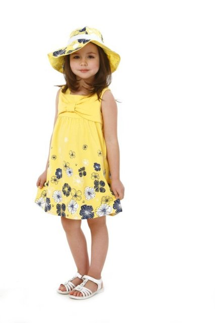 2016 New S Dress Summer Sunshine Design Yellow With Flower Frock 5 Sizes For About 4 8 Years Children