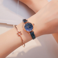 New Spring Flower Genuine Women's Leather strap Quartz Girls Lovely Beautiful Small Watches Famous Brand Julius 969 Lady Clock