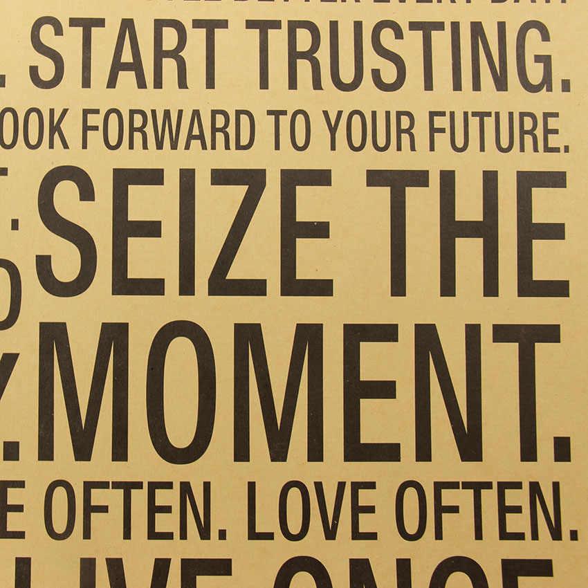 Популярные в мире наклейки на стену это ваша жизнь вдохновляющее слово крафт-бумага Ретро плакат домашний офис стикер на стену