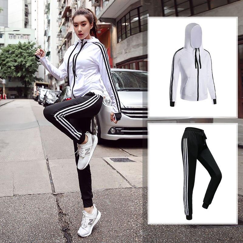 Conjuntos Ropa Deportiva mujer gym camisetas yoga definir esporte terno com capuz sports wear para mulheres ginásio plus size roupas de fitness