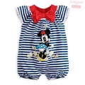 Black Stripes Cute Cartoon Body Baby Jumper for Girl Romper Kids Overall Summer 2014 New Born Infant Clothes Bebe Clothing Wear
