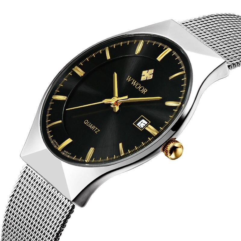 0c1f5630e225 ٩( ‿ )۶Лидирующий бренд Повседневное Мужские часы Нержавеющая сталь ...