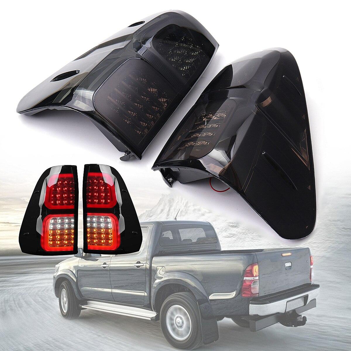 ABS 32x38cm Car LED Rear Tail Lights Brake Lamps Smoked