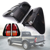 ABS 32x38cm Car LED Rear Tail Lights Brake Lamps Smoked for Toyota Hilux Vigo Revo 2016 2018 Easy to Install