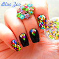 12 Colors in 1 Box, 200 pcs Rhombus Nail Sequins, Size 1.5-2mm Glitter Rhinestones for 3D Nail Salon Art Decoration