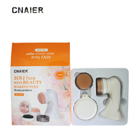 3 IN 1 CNAIER Electric Face Makeup Puff Personal Care Specialist Massage Type Uniform Beat Powder