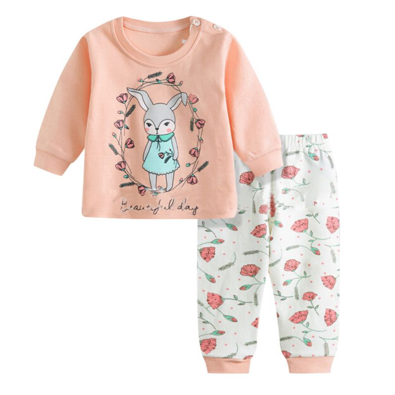 2pcs/SET Suit Newborn Clothing Set  Autumn Baby Clothing Set Boys Girls Clothes Long Sleeve T-shirt + Pants cotton baby rompers set newborn clothes baby clothing boys girls cartoon jumpsuits long sleeve overalls coveralls autumn winter