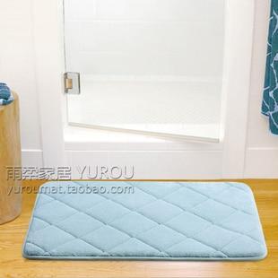 Tapis absorbant en mousse à mémoire de rebond lent tapis de bain paillasson