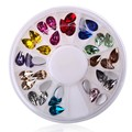 Colourful Shiny Clear Glitter Non Hotfix Crystal Color 3D Nail Art Decorations Flatback Rhinestones