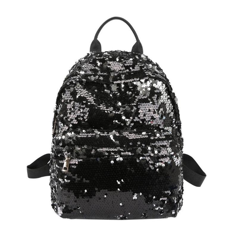 Sequins Glitter Bling Backpacks Teenager Girls PU Leather Backpack Girls Shoulder School Bag Travel Rucksack 19