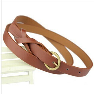 Thin PU Leather Belt Female Red Brown Black White Yellow Waist Belts Women Dress Strap Cinturon Mujer Cinto Feminino Cinturones