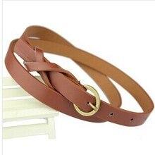 Thin PU Leather Belt Female Red Brown Black White Yellow Waist Belts
