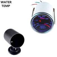 Universal Automobile Clock White Shell Pointer 2 52mm Smoke Len LED Water Temp Gauge Pod Holder