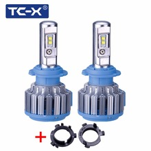 TC-X For HYUNDAI Veloster/coupe/Sonata9/ H7 LED Headlight Replacement Bulbs Kit With H7 Adapter Base LED 12V Only For Reflector