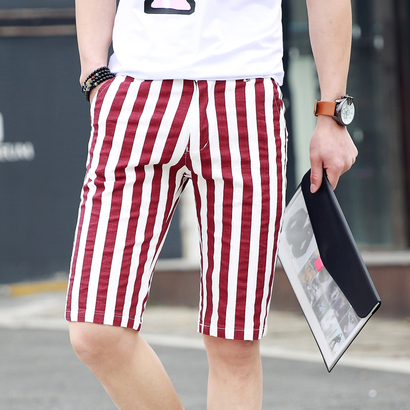 Mens stripes for summer wear casual Mens Shorts Homme Cargo Shorts Pantacourt Homme Short Hombre Cargo Casual
