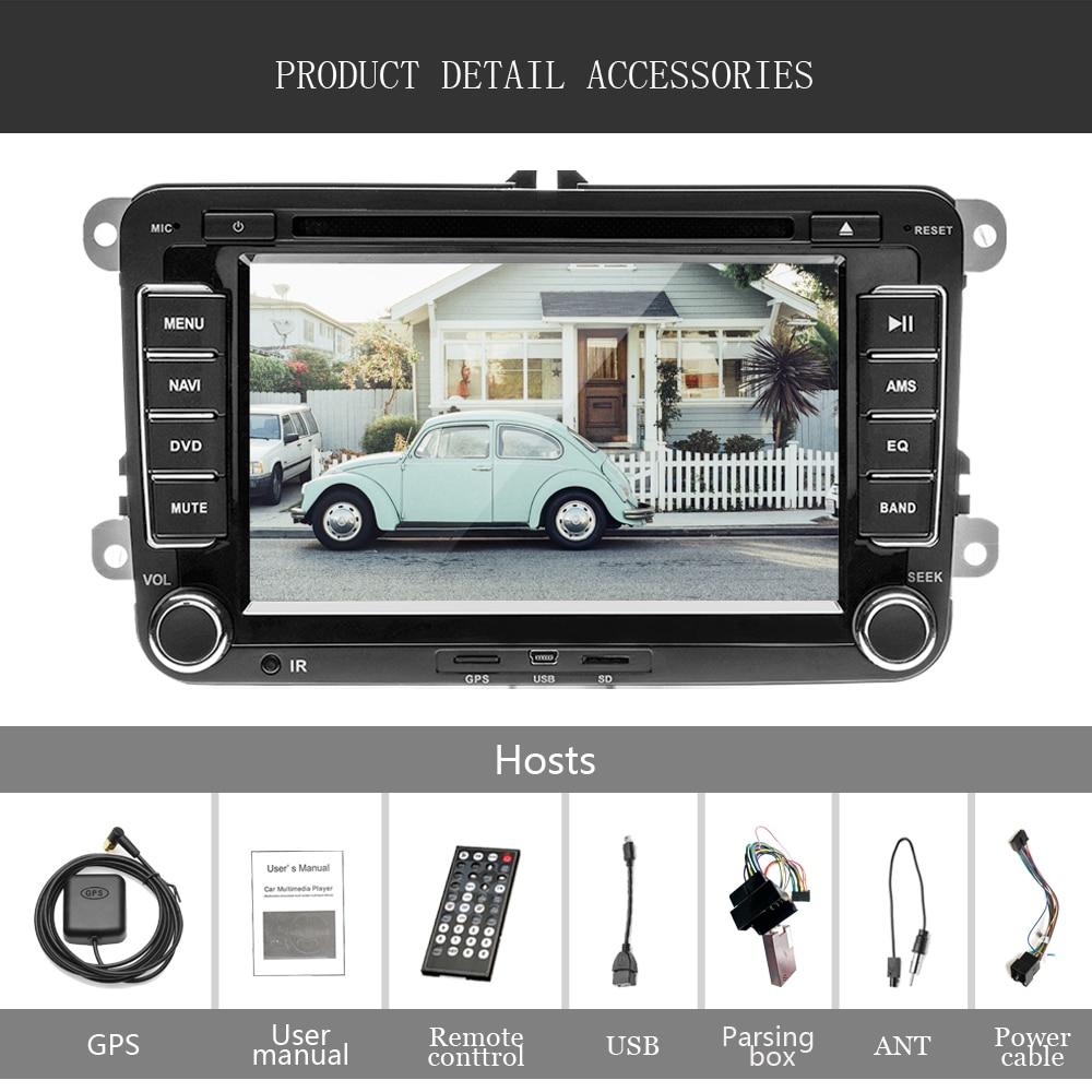 Lecteur multimédia de voiture Camecho deux Din autoradio DVD GPS Auto Radio stéréo pour Skoda/Seat/Volkswagen/VW/Passat b7/POLO/GOLF 5 6 - 6