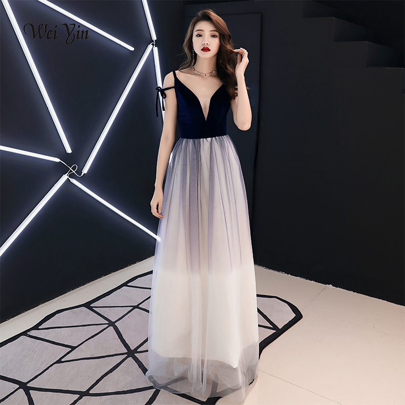 Weiyin 2019 New Short Cocktail Dresses Black Long Sleeved High-neck Tea-length Velour Formal Gown Robe De Soiree Wy1494 Weddings & Events