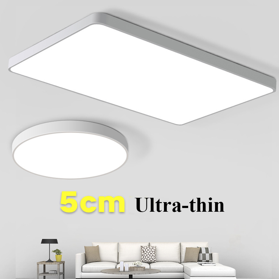 Thrisdar 12W 24W 36W Modern LED Ceiling Light 5CM Thin LED Panel Ceiling Light Bedroom Kitchen Surface Mounted Panel Light 36w led kitchen panel light energy saving bright 220v rectangular 600 600integrated chandelieledpanel ceiling lampr