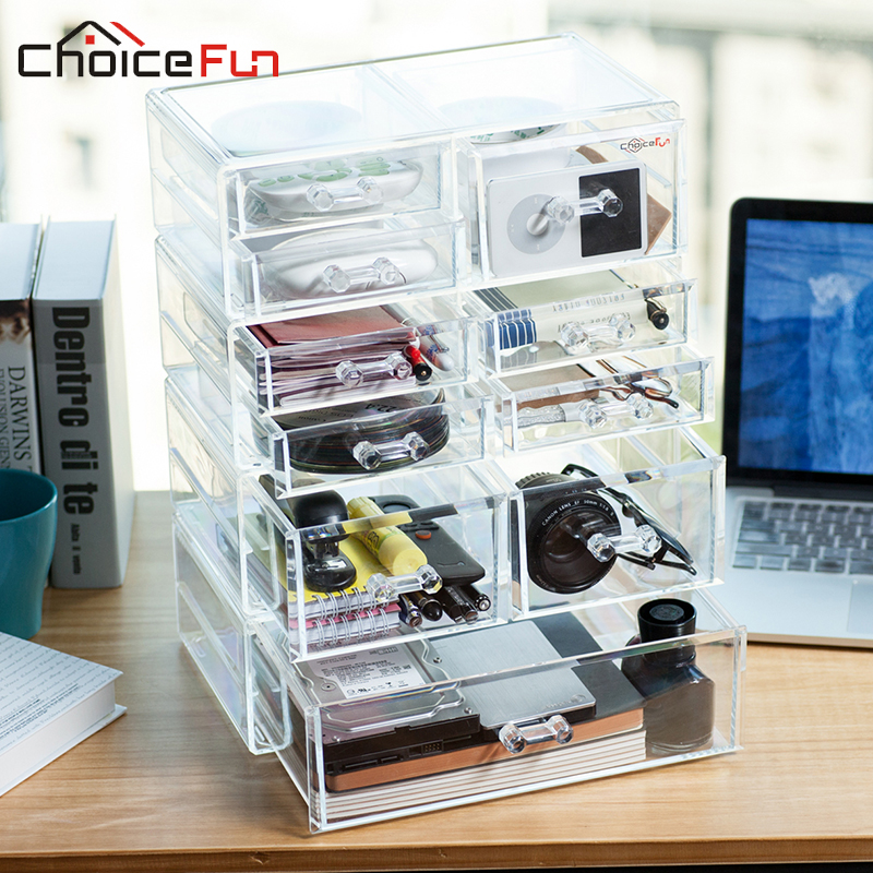 Choicefun Luxury Plastic Storage Boxes Container Cd Caddy