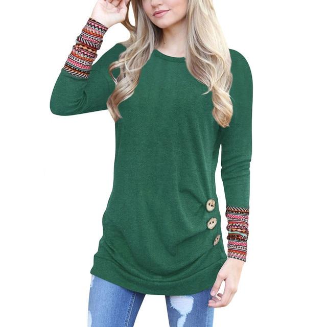 O-Neck Long Sleeve T-Shirt  1