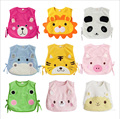 Baby Clothing 2016 Lacing Microfiber Cartoon Animals Baby Gilet Vest Soft Lovely Comfortable Baby Bibs Baberos Warm Jacket