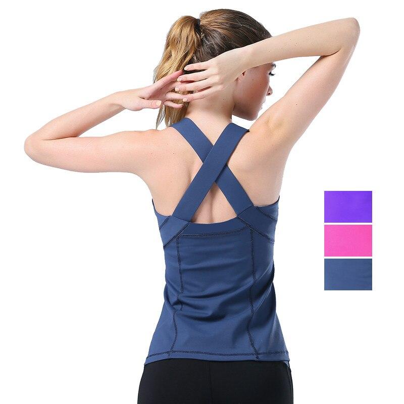 Women'S Yoga T Shirt Yoga Woman Sleeveless Yoga Tank Tops Tight Sports Tops Fitness Shirt Women Quick Dry Running Shirts