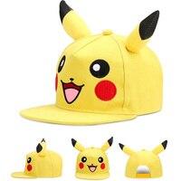 Anime Pocket Monster Pikachu Snapback Caps Adult Baseball Cap Cool Boy Hip Hop Hats For Men