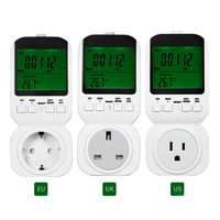 UK/US/EU Plug TS 4000 Multi function Thermostat Timer Switch Socket with Sensor Probe Adjustable 12/24 Hour LCD Display