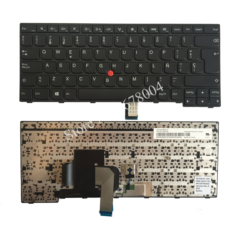 Nouveau SP clavier dordinateur portable pour LENOVO THINKPAD E450 E450c E455 E460 E465 clavier espagnol FRU 04X6191 noirNouveau SP clavier dordinateur portable pour LENOVO THINKPAD E450 E450c E455 E460 E465 clavier espagnol FRU 04X6191 noir