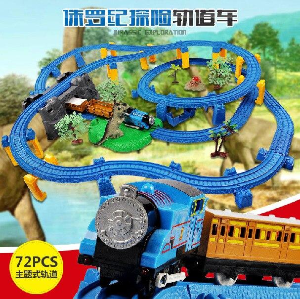 En Stock Nuevo Super Thomas pequeño tren eléctrico pista de coches rompecabezas