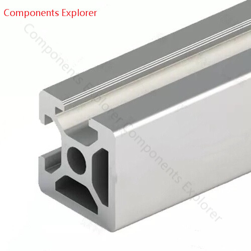 Arbitrary Cutting 1000mm 2020 Two Edges Aluminum Extrusion Profile,Silvery Color.