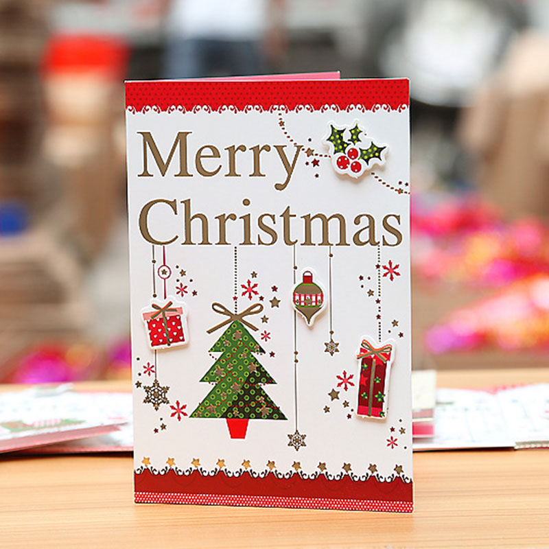1 set hot stamping high grade merry christmas card envelope greeting 1 set hot stamping high grade merry christmas card envelope greetingmessage card postcard christmas new year gift card 8 style in cards invitations from m4hsunfo