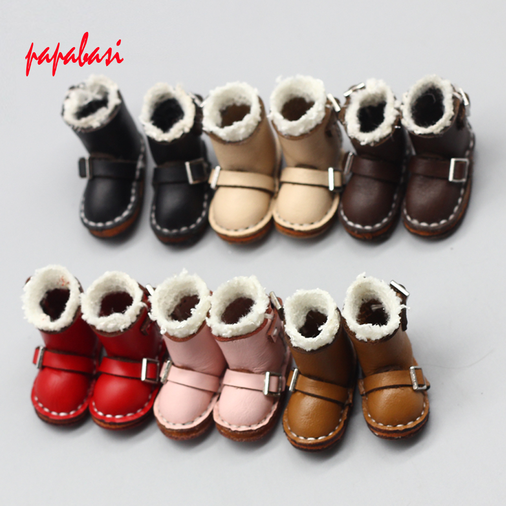 1Pair DOLLS Boots For 1/6 Blyth Dolls AS Fit 1/8 BJD Dolls Shoes Accessories Toys 3.7*1.6cm